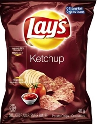 Lay's 40g Ketchup Potato Chip 40's Sugg Ret $1.50