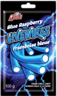 Livewires Blue Raspberry Cream Cables 18/100g Sugg Ret $2.19***Promo Retail 2 for $3.33***
