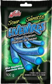 Livewires Sour Blue Raspberry Tongue Painters Cream Cables 18/100g Sugg Ret $2.19***Promo Retail 2 for $3.33***