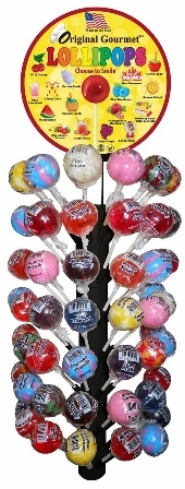 Gourmet Lollipop Tee with Free Magnetic stand Display 120/31g Sugg Ret $1.49