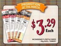 McSweeney's 90g Pep and Ched 1 each Point of Sale Cards***PROMO RET 2 For $5.99 ***