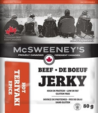 McSweeney's 80g Teriyaki Hot Beef Jerky 10/ Sugg Ret $7.89​​***Promo Retail 2 for $11.00***