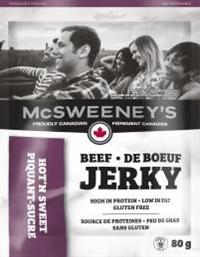 McSweeney's 80g Hot n Sweet Beef Jerky 10/ Sugg Ret $7.89***Promo Retail 2 for $11.00***