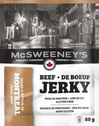 McSweeney's 80g Montreal Steak Spice Beef Jerky 10/ Sugg Ret $7.89​​***Promo Retail 2 for $11.00***