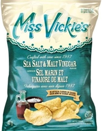 Miss Vickie's 40g Sea Salt & Malt Vinegar Kettle Potato Chip 40's Sugg Ret $1.50