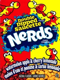 Nerds Double Dipped Lemonade, Wild, Cherry, Apple, Watermelon 36/46.7g Sugg Ret $1.89