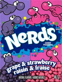 Nerds Grape Strawberry 24/46.7g Sugg Ret $1.89