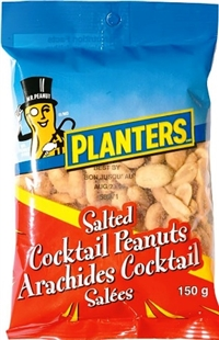 Planters 150g Cocktail Salted Peanuts 12/150g Sugg Ret $2.99