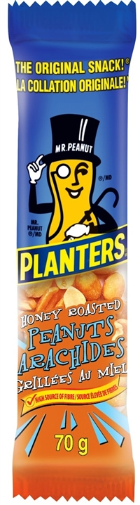 Planters 70g Tube Honey Roasted Peanuts 12/70g Sugg Ret $1.79