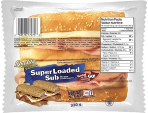 Quality Super Loaded Sandwich 1/330g Sugg Ret $7.99