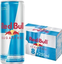 Red Bull 250 ml 8 Pack Suitcase Sugar Free 3/8250ml Sugg Ret $24.99