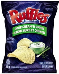 Ruffles 40g Sour Cream 'N Onion Potato Chip 48's Sugg Ret $1.50
