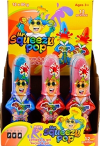 Sweet Fun Mr SqueeZy Pop 12/80g Sugg Ret $2.69