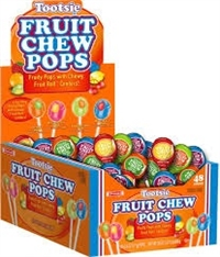 Tootsie Fruit Chew Pop 48/17g Sugg Ret $ 0.49
