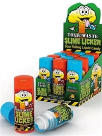 Toxic Waste Slime Licker Sour Rolling Candy 12/60g Sugg Ret $4.99