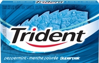 Trident Peppermint SuperPak 14 pack Sugg Ret $2.29