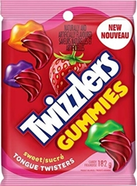 Twizzlers Gummies Sweet Tongue Twisters 10/182g Sugg Ret $3.89