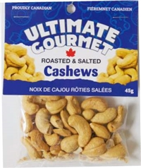 Ultimate Gourmet Jumbo Cashews on a Display Pin Wheel 50/45g Sugg Ret $3.25