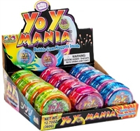 Yo Yo Mania Bubble Gum Dispenser 12/30g Sugg Ret $2.59