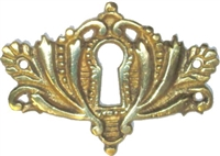 B-0258 Victorian Keyhole Cover - Brass
