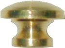B-0303 Small Drawer Knob - Brass - 7/16""
