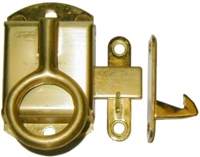 B-1515L Left Hand NAPANEE Cabinet Latch - Brass