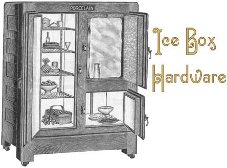 Old Fashioned Wooden Ice Box