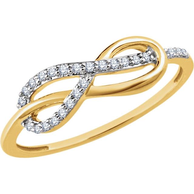 14k Yellow Gold Infinity Ring