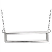 This simple and chic white gold necklace is a fun and easy accessory to any outfit, in 14k white gold!