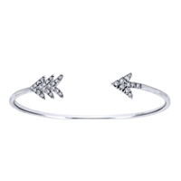 This arrow cuff bracelet will shoot its way right into your wardrobe, featuring white sapphires.