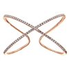 This rose gold bangle is styling with almost 2 carats of full round brilliant diamonds.
