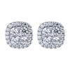 This 14k white gold diamond stud pair of earrings showcases 0.88 carats of diamond shimmer all set into an elegant stud setting!