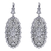 This amazing pair of 18k white gold moroccan diamond drop earrings have a full 2 carats of round diamonds and an ability to inspire.