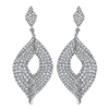 These diamond leaf earrings drop delicately and shine with almost 4 carats of round diamonds.