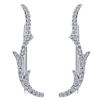 This 14k white gold diamond cuff earring set is a beautiful, natural and cool way to stay on top of the fashionista world!