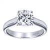 A strong and durable relationship needs a strong and durable engagement ring, this contemporary solitaire engagement ring will do the job and more, perfectly holding a round center diamond!