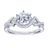 14k white gold criss cross contemporary engagement ring