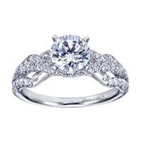 White Gold Bypass Diamond Engagement Ring