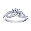 White Gold Diamond Contemporary Engagement Ring