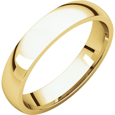 This 14k men's wedding band is 4mm wide and an old classic.