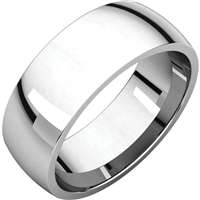 This classic 7mm wedding band in 14k gold comes in your choice of color.