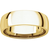 14k men's wedding band 6mm wide.