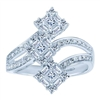 White Gold Victorian Diamond Fashion Ring
