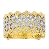 Two-tone Gold Diamond Fence Fashion Ring