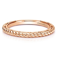 A 14k rose gold stackable ring.