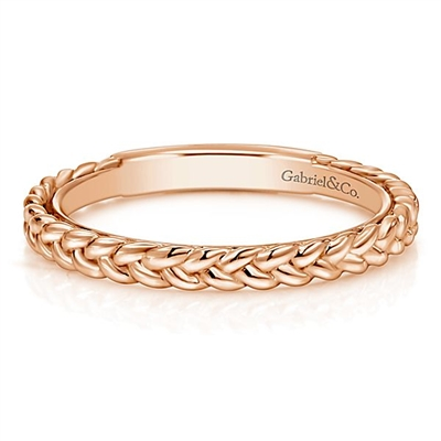 This 14k rose gold ring is a beautiful stackable.