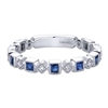 Sapphires and diamonds and white gold oh my! Deep blue sapphires and diamond accents create this signature style from Gabriel and Co. Get you 14k white gold sapphire and diamond stackable ring and begin your life as a fashionista!
