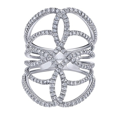 This 14k white gold diamond fashion ring is not your average ring! With over 1 carat of round brilliant diamonds lighting up this diamond fashion ring.
