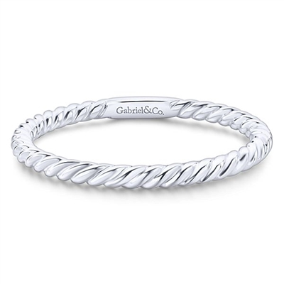14K White Gold Stacking Ring. Simple and Elegant!