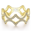 This 14k yellow gold stackable ring features 0.38 carats of diamonds.
